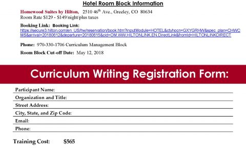 Writing Quality Curriculum Training at the Centennial BOCES in Greeley, Colorado, June 13-15, 2018